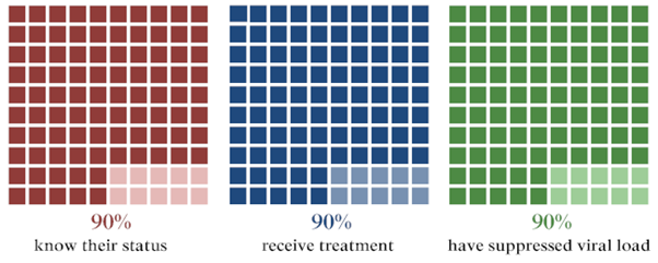 The Diagnostic Access Initiative strives to attain the 90-90-90 targets, which were first introduced by the Joint United Nations Programme on HIV/AIDS (UNAIDS) in May 2014. Adapted from: 90-90-90 Targets. (2014). Adapted from http://www.avert.org/90-90-90-targets.htm.
