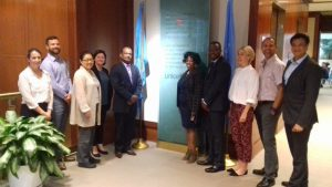 Meeting participants from ASLM, UNICEF, and CHAI in New York City, United States. [Photo: Nqobile Ndlovu]