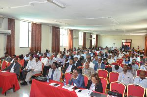 Participants at the dissemination workshop and consultative meeting on HIV/AIDS, tuberculosis and related diseases in Dire Dawa, Ethiopia, 4-7 September 2017. [Photo: Million Kebede, EPHI]