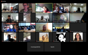 Screenshot of LabCoP's first videoconferencing on 15 December 2017
